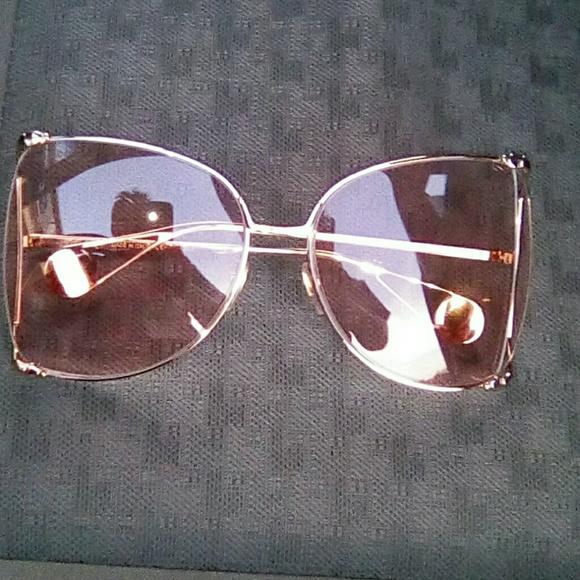 7b41761600a1 Gucci Accessories | Oversize Roundframe Metal Sunglasses Pink | Poshmark